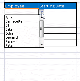 Dropdown List In Excel