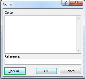 Excel Go To Dialog