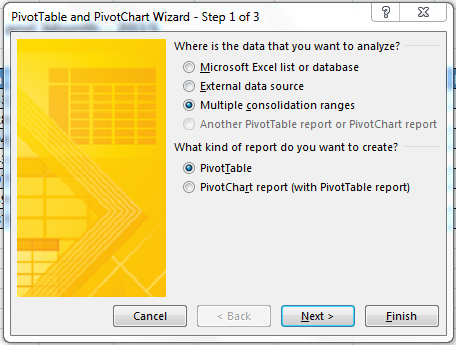 Excel 2003 PivotTables