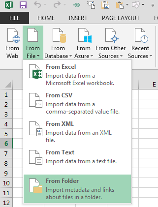 Importing Data From Folder