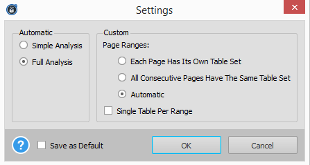 Able2Extract Excel Conversion Settings