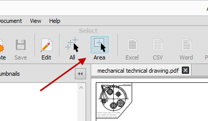 Selecting PDF Drawing Content