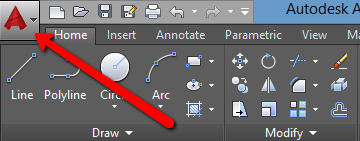 AutoCAD Application Button
