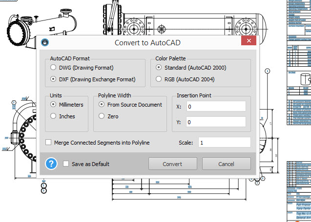 Able2Extract Autocad Conversion