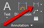 Locating AutoCAD Dimensioning Tools