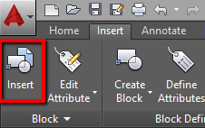AutoCAD Insert Block Option