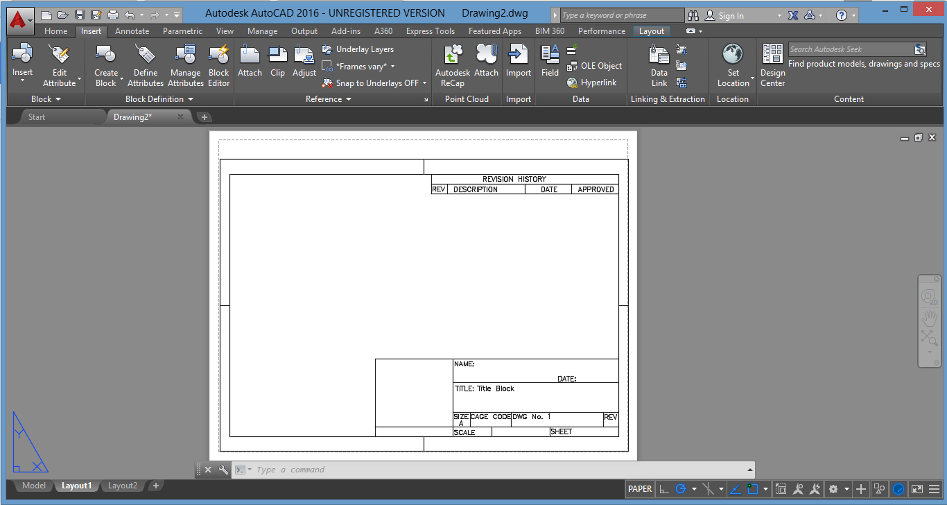 How To Insert A Title Block Make Diagram In Word Creating Autocad