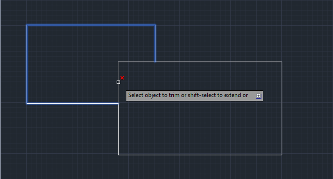 Trimming AutoCAD Objects