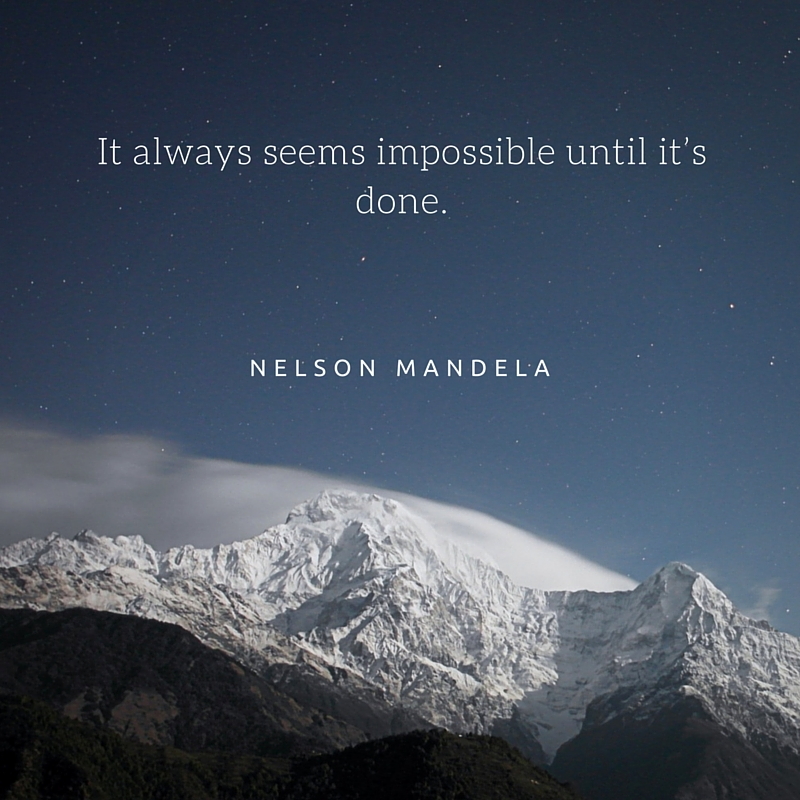 Motivational Quote Nelson Mandela