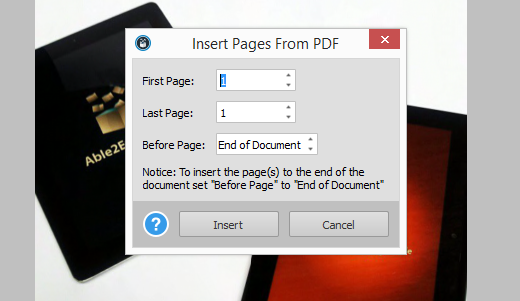 Merging PDF Pages Together