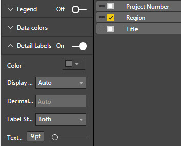 Selecting PowerBI Detail Labels