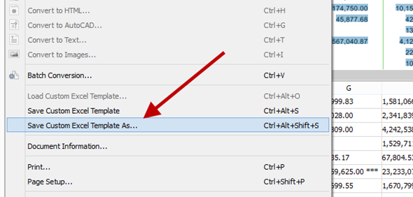 Saving Custom Excel Templates