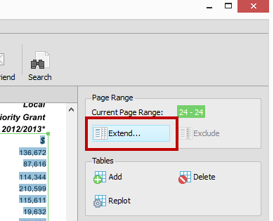 Extending Custom Excel Page Range