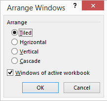 Arranging Windows In Excel