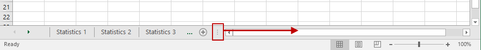 Expanding Excel Worksheet Tab View
