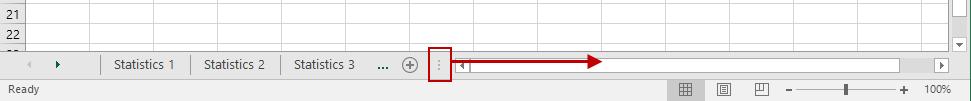 Expanding Excel Worksheet Tab View