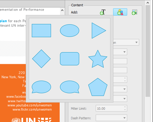 Adding PDF Vector Shape