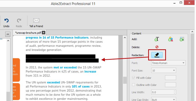 Permanent PDF Redaction