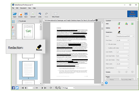 Redacting PDF Data