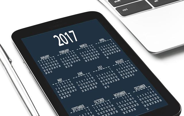 2017 Agenda Calendar