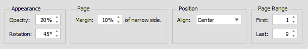 Selecting Watermark Settings