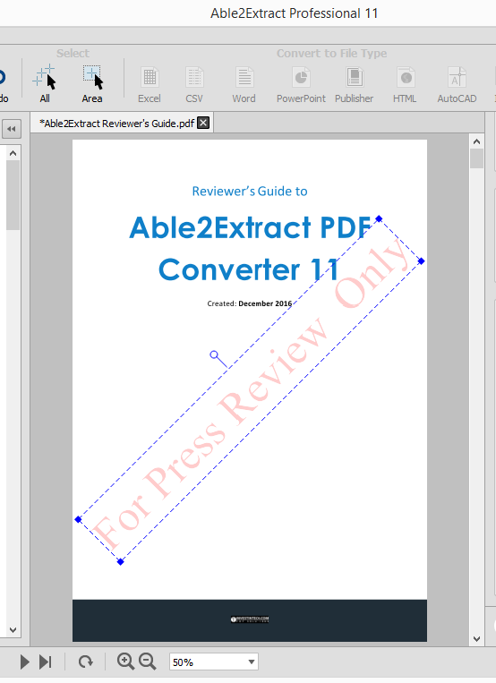 Able2Extract 11 Text Watermark