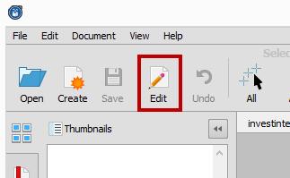 Editing PDF Content
