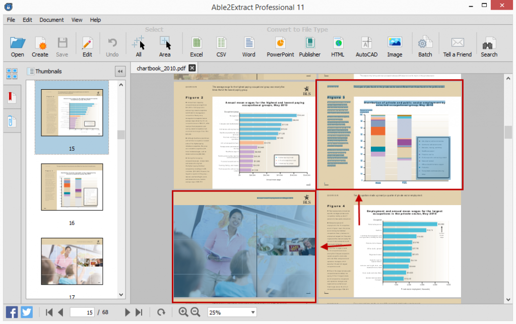 Selecting PDF Pages