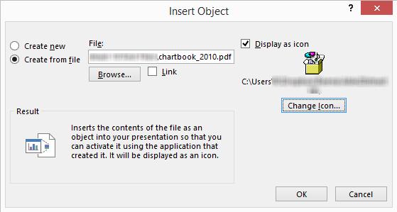 Insert Object Dialog Box