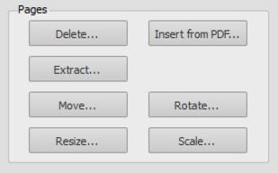 Page Options Editing Panel