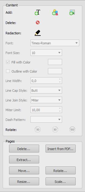 PDF Editing Options