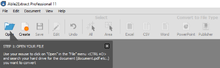 how to open tool bar in pdf