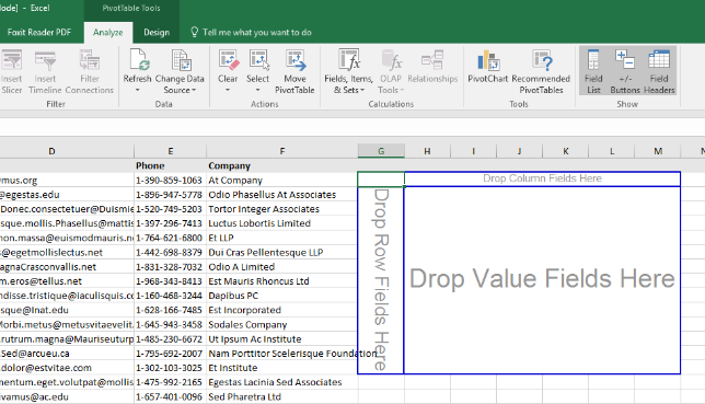 New Excel Pivot Table