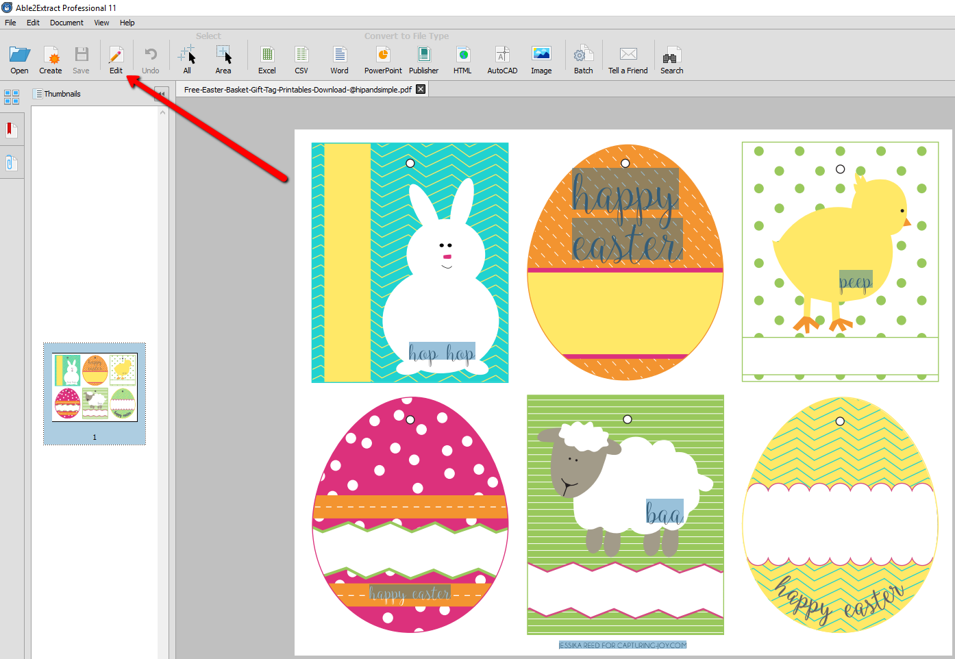 editing wordpress templates - how to convert and edit free printable easter pdf templates