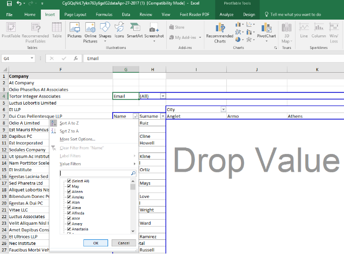 How To Create Excel Pivot Tables