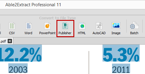 Able2Extract PDF To Publisher Converter