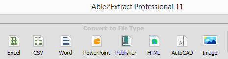 PDF Conversion Options