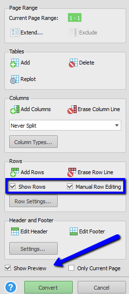Customizing Rows and Previewing Results