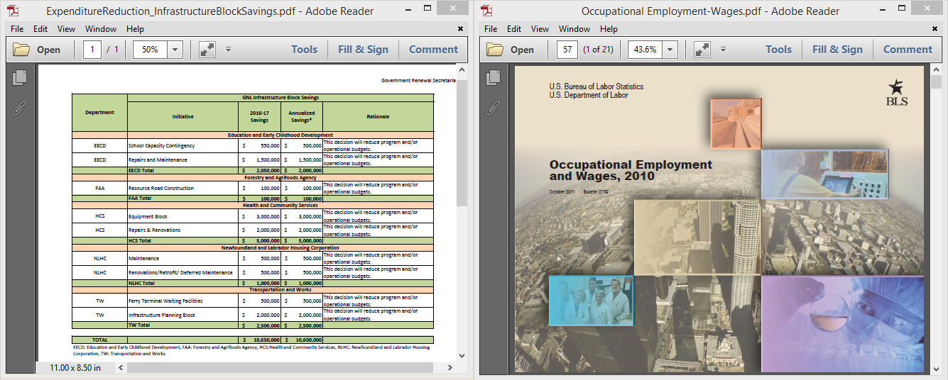Viewing Multiple PDFs Adobe Reader
