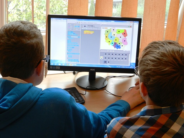 Students learning with technology