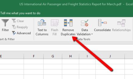 Removing Duplicate Excel Data