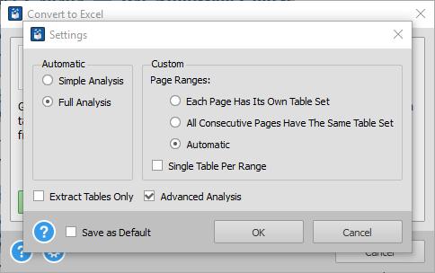 PDF To Excel Advanced Analysis