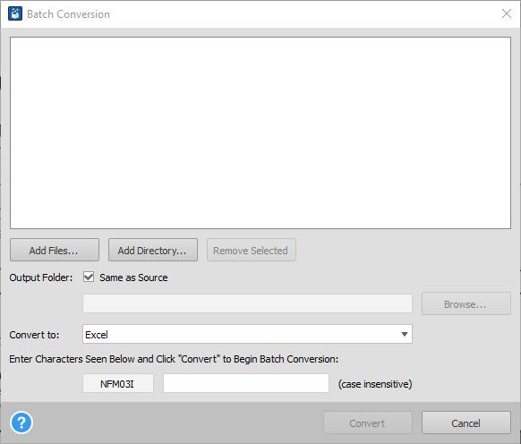 Advanced Batch Conversion