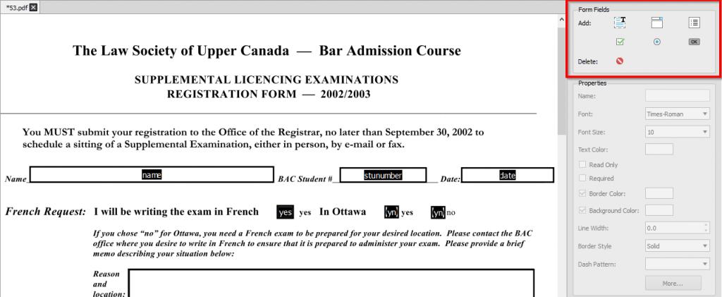 Editor de formulários PDF