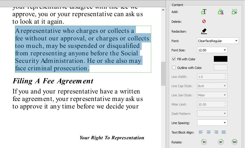 Edição PDF Parágrafos