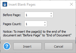 Adding Blank PDF Pages