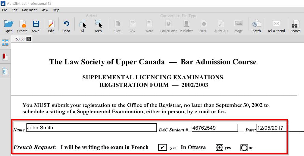 Preencher formulários PDF