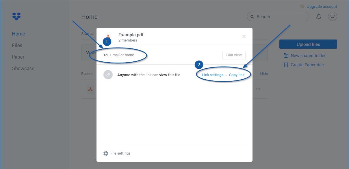 Attaching PDF into Email through DropBox