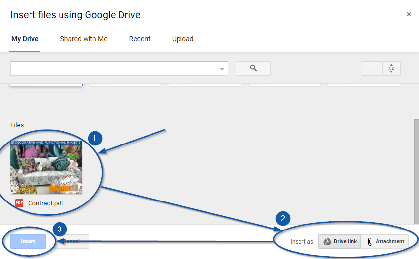 Attaching PDF into Email through Google Drive
