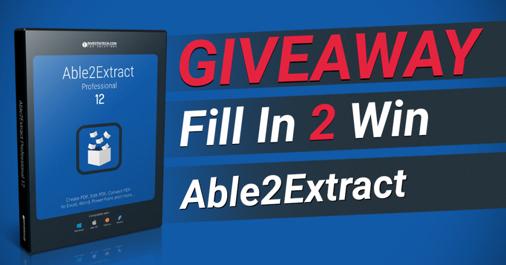 Able2Extract Giveaway